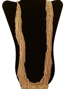 bebe Goldtone Fringe Necklace Bebe Goldtone Fringe Necklace