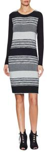 Three Dots Striped Longsleeve Sheath Dress