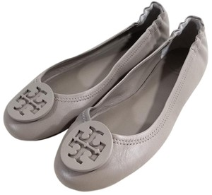 Tory Burch Travel Ballet Flat Tonal Logo Grey Flats