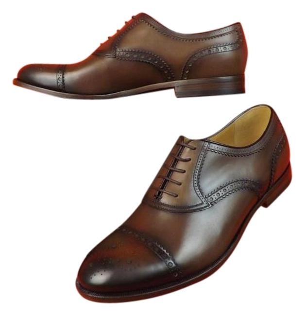 Item - Cocoa Betis Derby Leather Wingtip Perforated Oxfords 10.5 11.5 #312279 Shoes