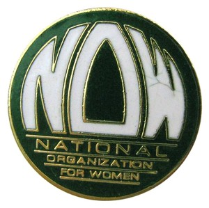 national organization for women VINTAGE NOW National Organization For Women Pin