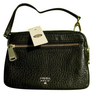 Fossil Fossil Woman's Black Leather Wristlet Wallet NWT $50.00 Retail