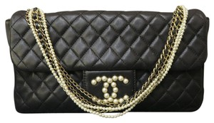 Chanel Lambskin Single Flap Shoulder Bag