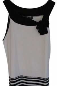 New York & Company Top Black and Cream