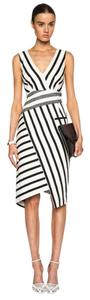 Altuzarra Stripes Asymmetrical Cocktail Paneled Panel Dress