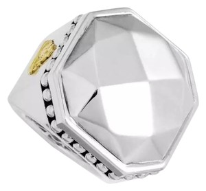Lagos size 5.75, sterling silver, 18k yellow gold Fashion Ring