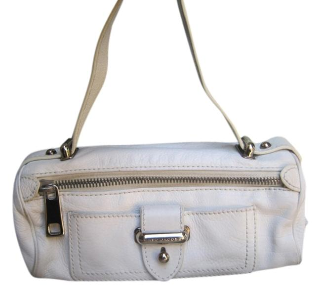 Marc Jacobs Evening Bag Silver Hardware White Leather Satchel Marc Jacobs Evening Bag Silver Hardware White Leather Satchel Image 1