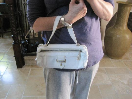 Marc Jacobs Evening Leather Silver Hardware Satchel in White