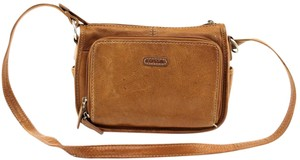Fossil Vintage Leather Pebbled Cross Body Bag