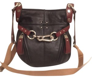 B. Makowsky Leather Black Cross Body Bag