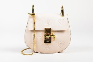 Chloé Chloe Limited Edition Blush Leather Mini Drew Poker Shoulder Bag