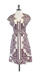 Derek Lam Cream Paisley Print Silk Dress