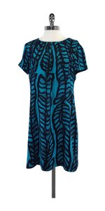 Tory Burch short dress Teal Navy Silk Short Sleeve on Tradesy