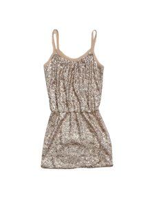 Rebecca Taylor short dress Blush & Tan Sequin Silk Sleeveless on Tradesy
