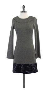 Vera Wang short dress Grey Wool Sequin Long Sleeve on Tradesy