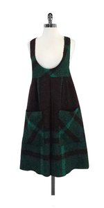 Anna Sui short dress Brown & Green Plaid Wool on Tradesy