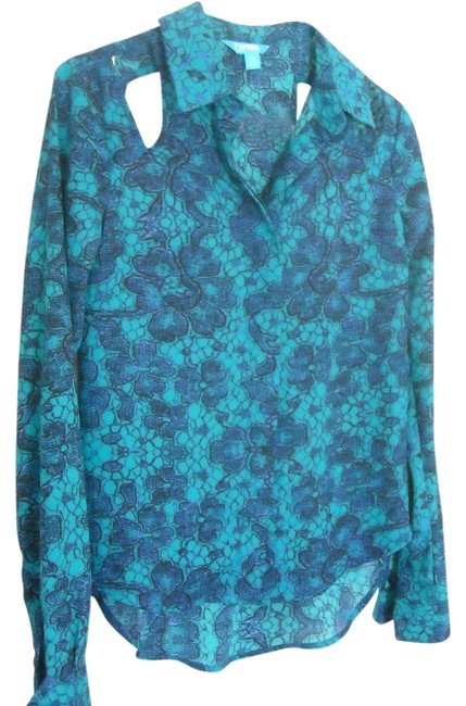 Nanette Lepore Button Down Shirt BLUE, BLACK, PURPLE