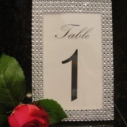 Silver Lot Of 20 Tone Bling Rhinestone Style Table Number / Photo Frame / Quinceanera / Shower Party Centerpiece