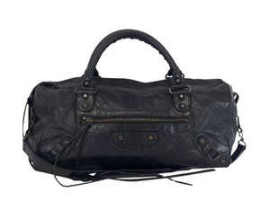 Balenciaga Black Leather Classic Twiggy Shoulder Bag