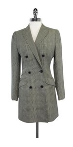 Dolce&Gabbana Black & Cream Houndstooth Wool Jacket