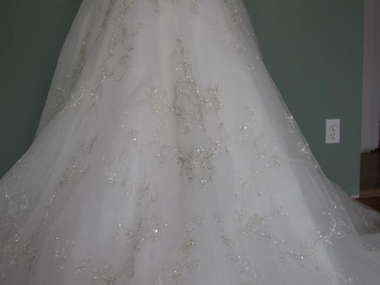 Casablanca Ivory Ivory Silver Tulle Gown Traditional Dress Size 8 (M)