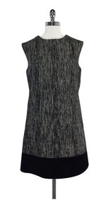 MILLY short dress Black Tweed Wool Suede on Tradesy