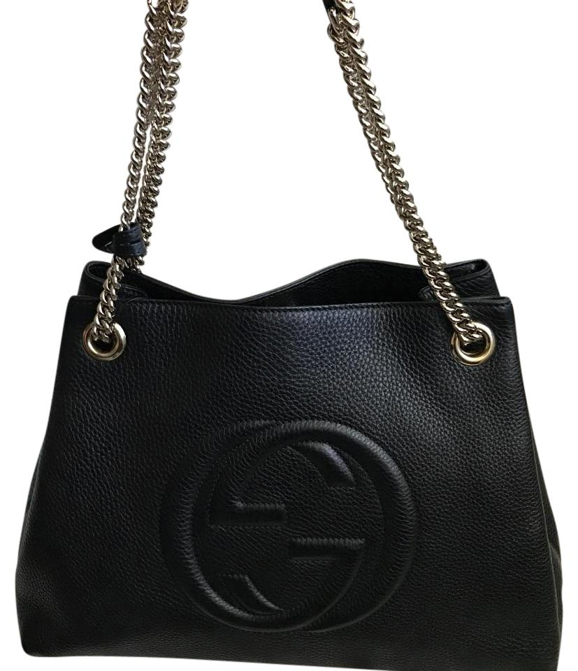 aa52155e69838 Gucci Soho Double Chain Black Leather Hobo Bag - Tradesy