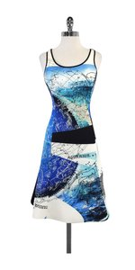 Clover Canyon short dress Blue Astrology Neoprene Sleeveless on Tradesy