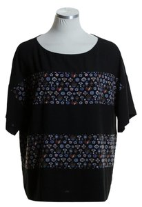 Rachel Roy Woven Boxy Oversize Top Black