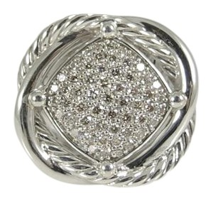 David Yurman David Yurman Sterling Silver .69tcw 14mm Pave Diamond Infinity Ring