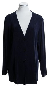 Chico's Long Sleeve Knit Stretchy Navy Jacket