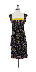 Nicole Miller short dress Multi Color Silk Gathered on Tradesy
