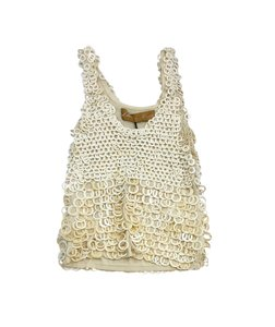 Zhor & Nema Cream Cotton Embellished Top