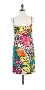 MILLY short dress Multi Color Print Cotton on Tradesy