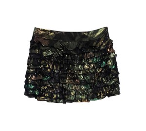 Marc by Marc Jacobs Gold & Green Tiered Silk Skirt