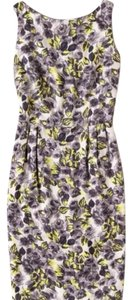 Boden short dress cream, yellow & grays on Tradesy