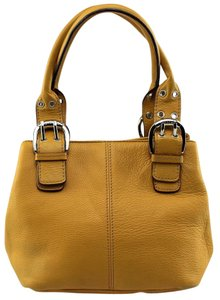 Tignanello Pebbled Leather Tote in Yellow