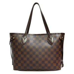 Louis Vuitton Neverfull Pm Lv Damier Ebene Tote in Brown