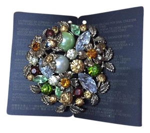 Forever 21 Jeweled Floral Harvest Brooch