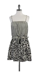 See by Chloé short dress White & Black Animal Print Silk on Tradesy
