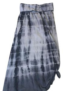 Loved by Heidi Klum Maxi Skirt Gray tie dye