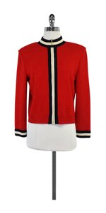 St. John Red Zip Knit Jacket