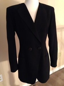 Dior Classic Double Breasted Vintage Black Blazer
