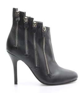 Giuseppe Zanotti Zippered Leather Zipper Black Boots