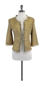 Trina Turk Gold Metallic Tweed Jacket