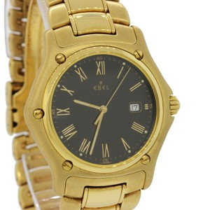 Ebel Ebel 1911 18k Yellow Gold 887902 34mm Black Roman Dial Quartz Watch