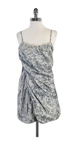 Thakoon short dress Grey & White Abstract Print on Tradesy