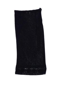 Karl Lagerfeld Black Slip With Lace Skirt