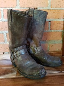 Frye Brown and Gray Boots