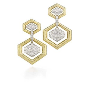 David Webb David Webb Madison Hexagon earrings